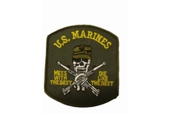 Badge US marines with Skull