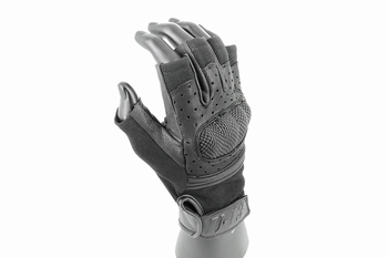 U-13 Tactical Hard-Knuckle Fingerless Gloves (Black)