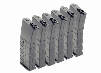 ICS T4 Tactical Magazine Low-Cap (6 pcs) Black