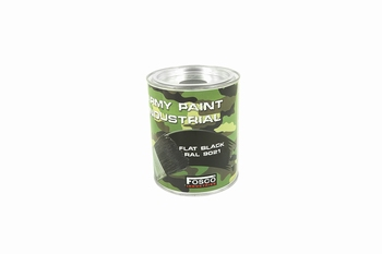Fosco RAL 9021 Flat Black 1 Liter Paint