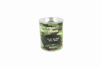 Fosco RAL 9021 Flat Black 1 Liter Paint