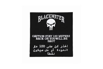 Blackwater 100 mtr logo (iron on)