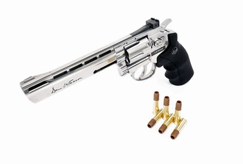 Dan Wesson 6 inch Revolver Silver (High Power) CO2